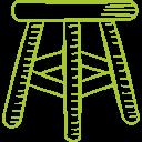asientos de mimbre