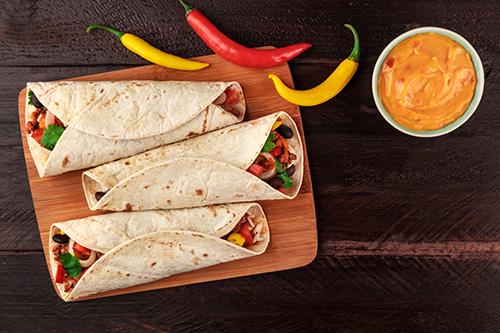 autenticos burritos recteas de comida mexicana
