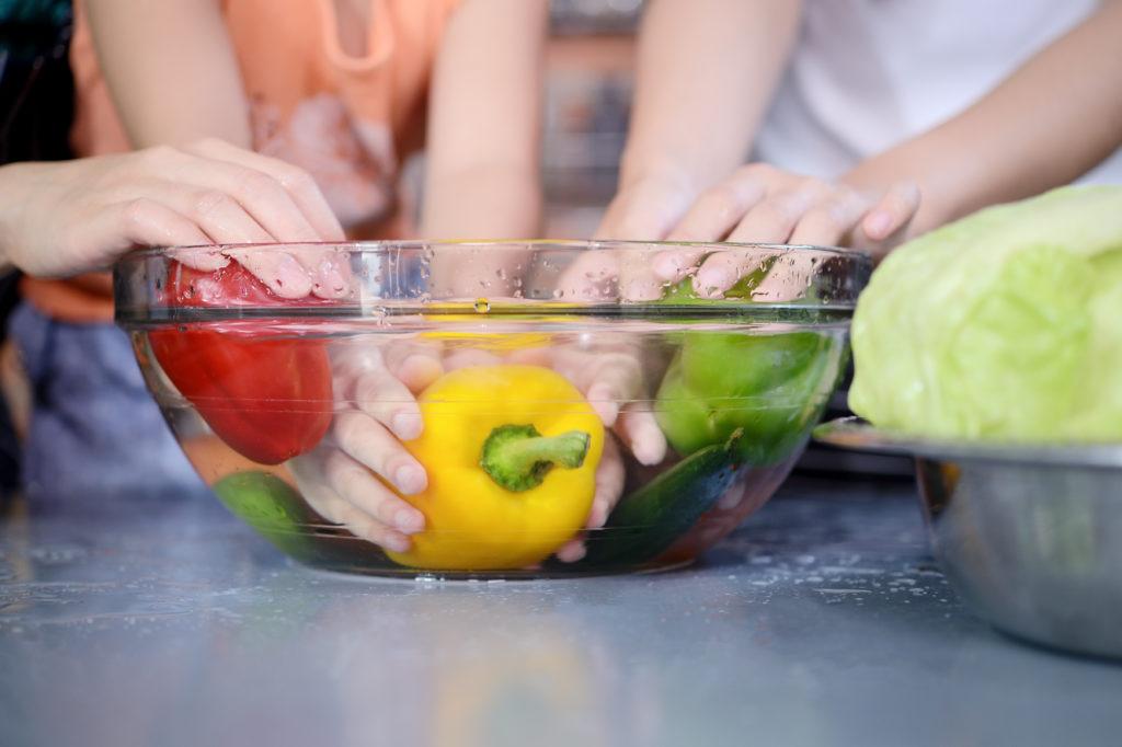 desinfectar frutas y verduras con bicarbonato de sodio y acido citrico