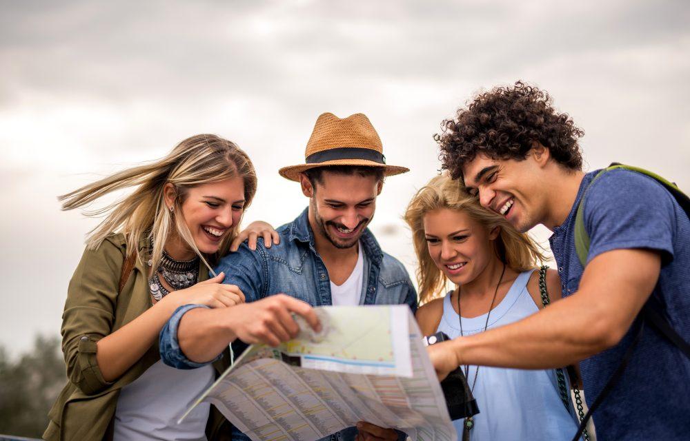 jóvenes en free tour