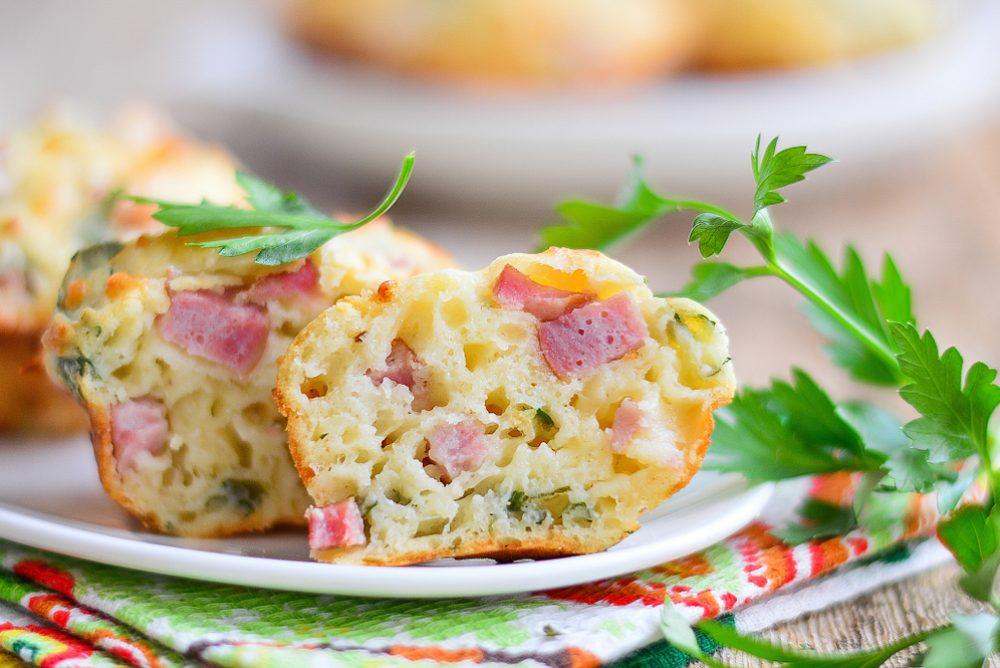 muffins de bacon y queso